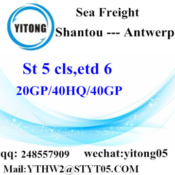 Shantou Sea Freight to Antwerp
