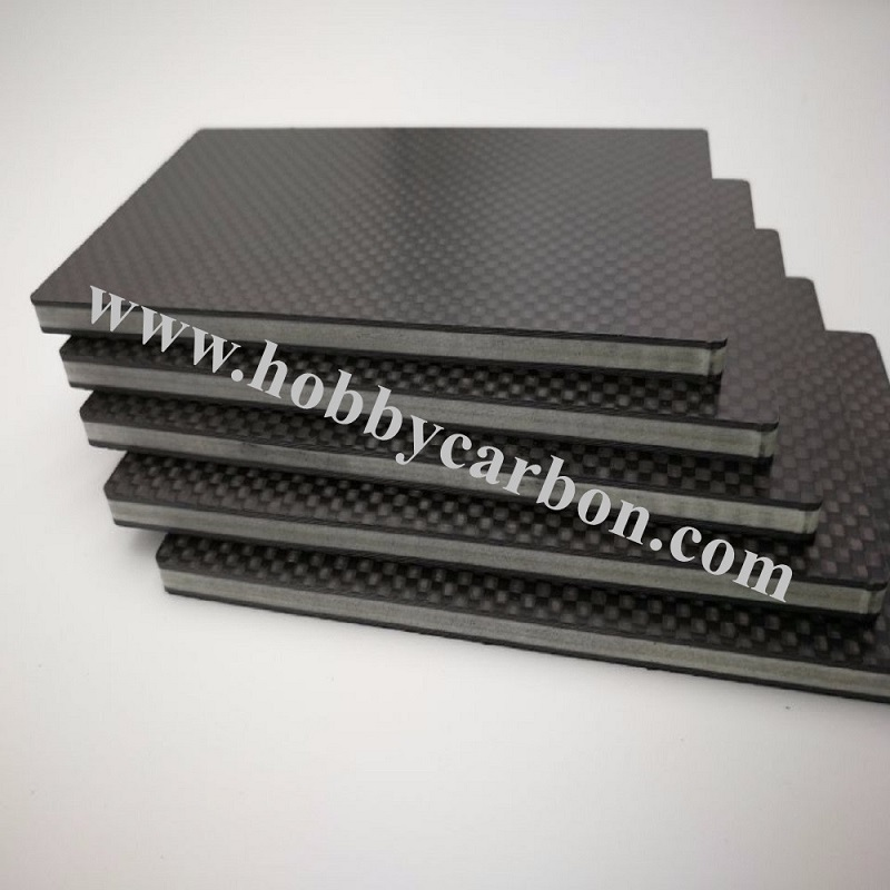 3K Carbon Fiber Sheet 2mm sandwich plates