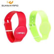 13.56mhz PVC Adjustable NFC NTAG213 144byte Wristbands