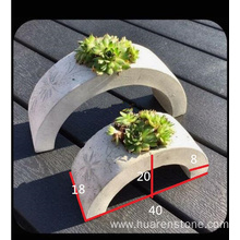 China for Granite Planter,Pebble Stone Planters,Stone Garden Planters Manufacturer in China Arch G617 granite flower pot supply to United States Manufacturer