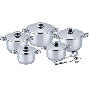 Wide edge 12pcs cookware set