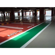 Red parking lot self-leveling epoxy floor