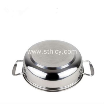Stainless Steel Hot Pot With Double Handle