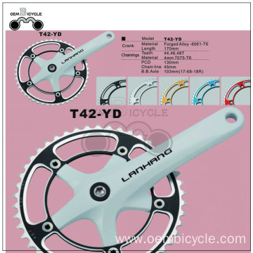 Multi color bike chainwheel bicycle crankset