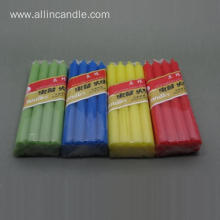 Non Drip Tapered Colour Candles for Decoration