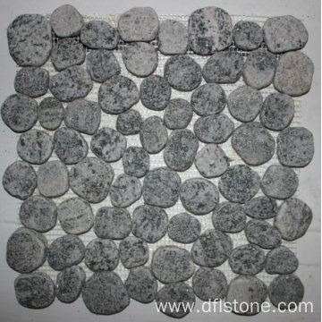 30.5×30.5cm Grey Natural Pebble Stone Mosaic Tile