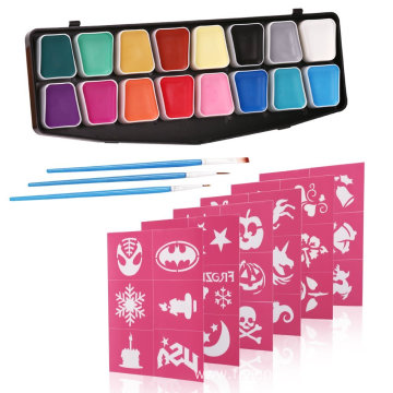 Art Body Non-Toxic Face Paint Set With Stencil