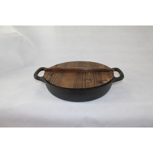 Oval Pots With Wood Lid