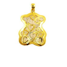 China for Yellow Gold Pendant Teddy Bear Charm Pendant export to Bahamas Suppliers
