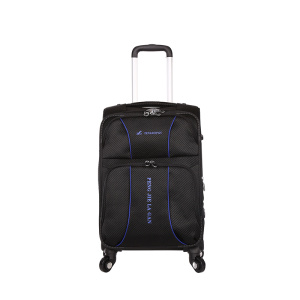 Custom nylon suitcase spinner wheels luggage set