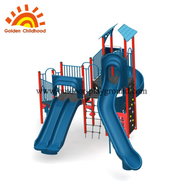 Preschool outdoor plastic slide playground equipment