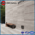 Faux wood tile white on wall