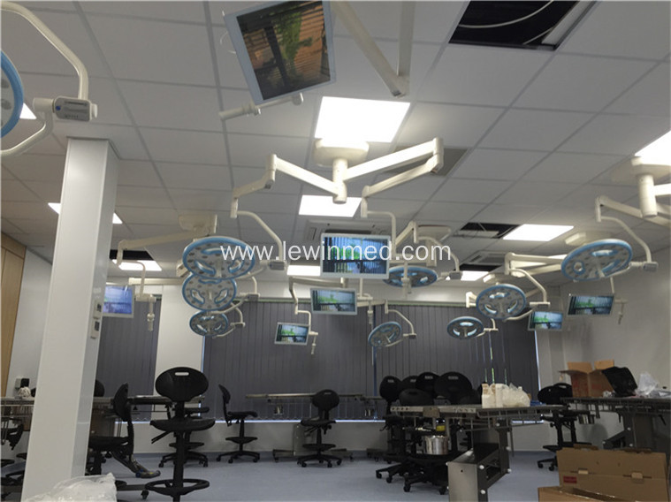 Hollow type single head clinic operating light