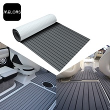 Melors EVA Boat Flooring Fuax Teak Sheet Grey