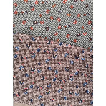 Texture Flower Polyester Bubble Chiffon Printing Fabric