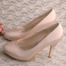 Nude Platform Heels for Women Size 7