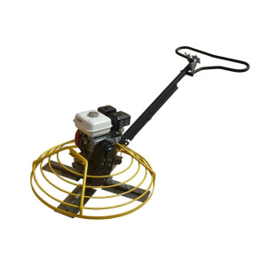 Engine hand push power trowel