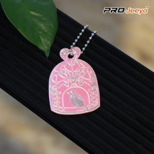Reflective Safety Birdcage Shape PVC Keychain Kids Pendant