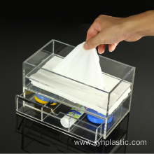 clear colored acrylic tissue organizer box
