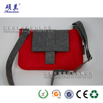Wholesale customized design felt shoulder bag
