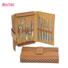 Professional 8pcs Leather Travel & Grooming Set