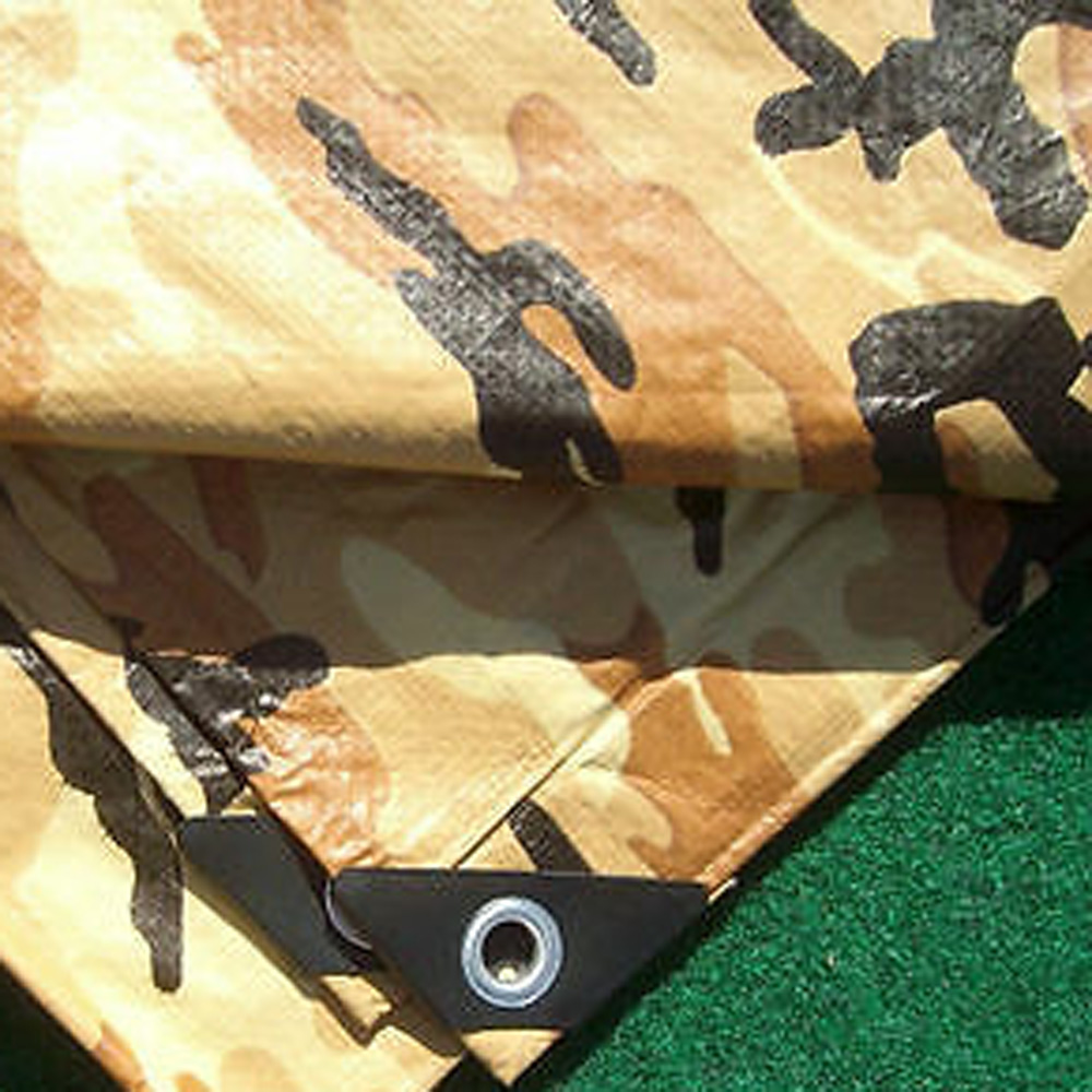 Desert Brown Camouflage Tarps Trailer Cover