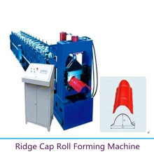 High reputation for Ridge Cap Tile Roll Forming Machine Color Metal Ridge Cap Making Machine export to United States Minor Outlying Islands Manufacturers