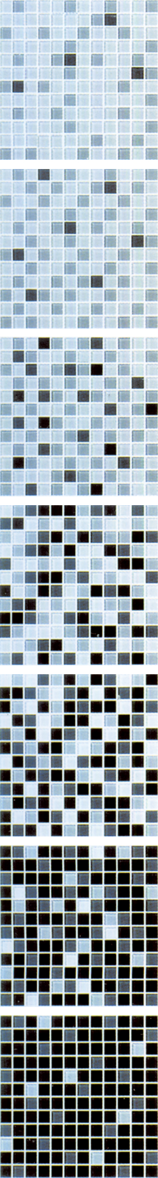 Gradual Change Glass Mosaic Tile
