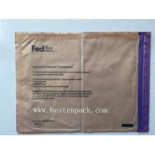 Purples zipper packing list envelope