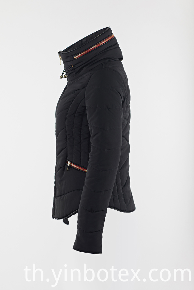 zipper warm coat