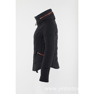 Black padding jacket for daily wear