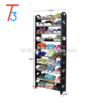 30 Pairs Adjustable Shoe Storage Shoe Rack Organiser Shelf Easy Assemble 10 Tier