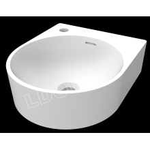 Wall Hung Round Solid Surface Bathroom Basin