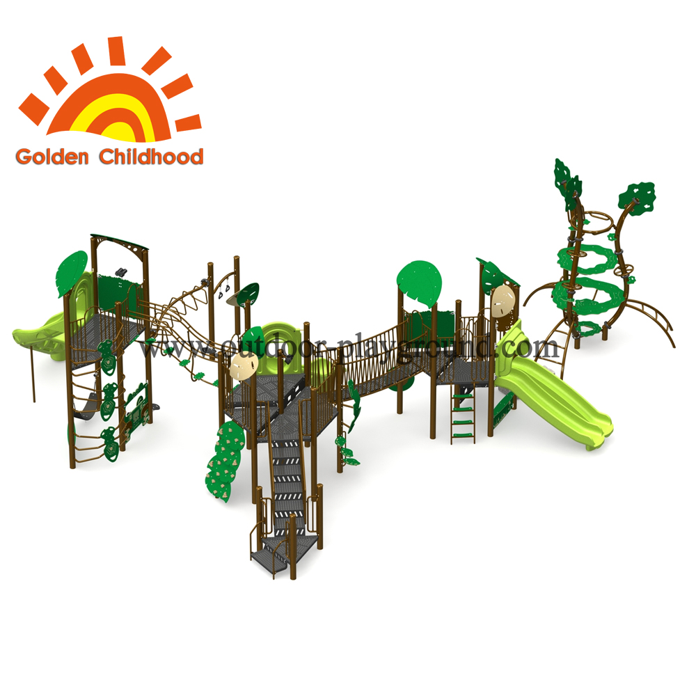 Green Spring Tree Outdoor Playground