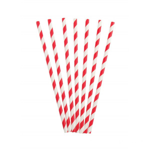 High quality red and white striped straws