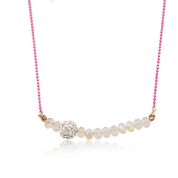 Crystal Bead Shamballa Necklace Wholesale Chain Necklace