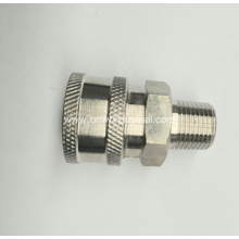 "Pressure Washer 1/4"" Male NPT-M Quick Connect S.S. Coupler 5000 PSI"