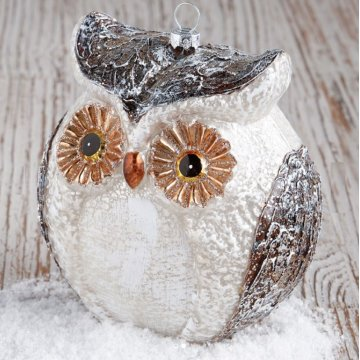 OEM Supplier for Christmas Decoration Ball Customized Christmas Owl Glass Blown Ornaments for Christmas Tree export to Macedonia Factory