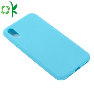 Solid Color Silicone Case for iPhone XS
