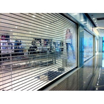 Commercial Transparent Crystal Shutter Rolling Up Door