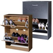 Space saving storage wooden shoe rack