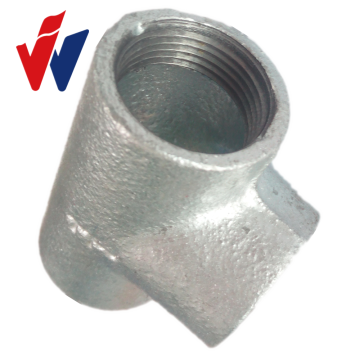 fittings of malleable iron galvanized elbow with plain