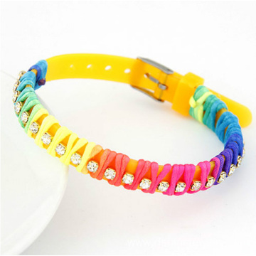 Good Quality for Rubber Bracelets DIY Promotional Multi String Wrapped Silicone Band Bangle export to Grenada Factory
