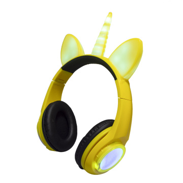 Rechargeable Unicorn Devil Dog LED Headphone Stereo Headset