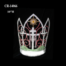 "10"" Rhinestone Halloween Pageant Crown"
