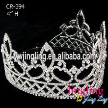 Rhinestone Round Queen Crowns