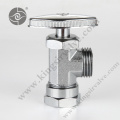 Chrome plated angle valve