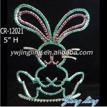 Cute Cartoon Rabbit Easter rhinestone crown for kids