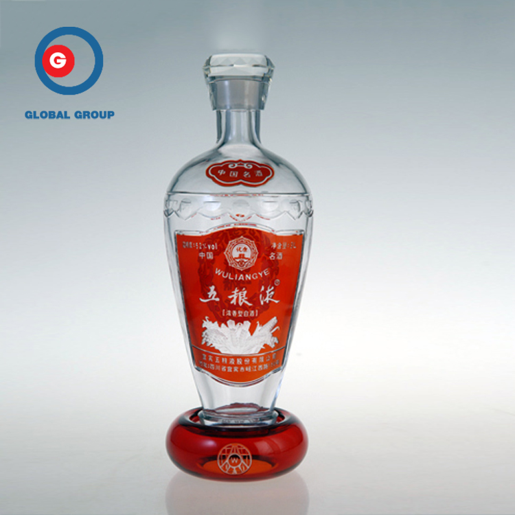 Wholesale Round Shape Liquor Bottle Spray Red Wine Bottle With Cap