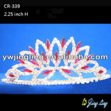 Red rhinestone bridal jewelry wedding crowns for sale